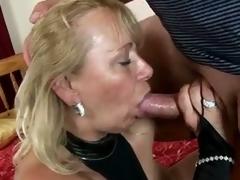 Slutty granny sara lynn takes care of old penis