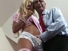 Golden-haired British MILF enticed for some fucking