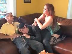 Chloe E,Colin Celtic and Deviant Kade are having pleasure in wild three-some porn scene