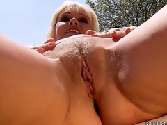 Kate Golden-haired is a horny rich widow and she is putting her cash to wonderful use. That playgirl finds herself lascivious guys like this juvenile stud and she makes 'em slam her for some money.