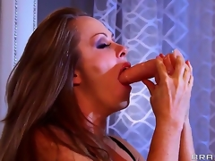 Dyanna Lauren is a spectacular milf and she is showing Keiran Lee what she can do with a line of toys that she deepthroats out of gagging or shedding a single tear. What a slut!