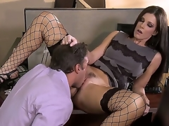 Irresistible milf India Summer is enchanting her colleague in the office and they look greater quantity than hot and arousing in this excellent and perverted hardcore scene.