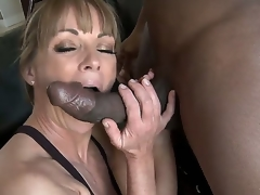 Working out acquires the blood flowing, and being stimulated acquires her juices flowing as well. Shayla LaVeaux takes on the girth of a Darksome pecker for interracial excitement.