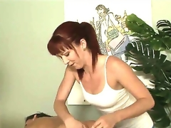 Tough masseuse Trinity Post can not stop rubbing Stephanie Swifts perfectly smooth and round buttocks here in this vid. The babe rocks ass likewise admirable even for a str8 beauty to resist!