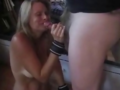 Flaming tied torturs & drubbing & cum swallowing
