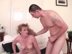 Cock and ball sucking mature desires his spunk