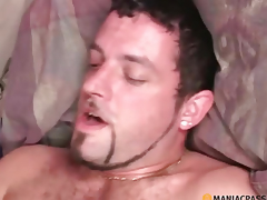 Hairy pussy guy touches your tongue