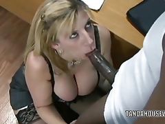 Mature slut Sara Jay is in her office and getting drilled