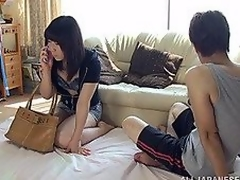 Aroused Japanese milf is visiting her boyfriend for some fast and hot fucking! This babe is as slutty as that guy is and this babe sucks his wang as in a short time as this babe has it out! When that guy is greater quantity than ready this babe is hopping on his dick for a love tunnel pounding and a doggy style fucking to satisfy their sensual needs!
