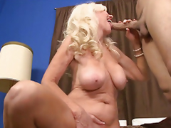 Blond granny receives fucked