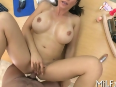 MILF take scrumptious tits fucked chiefly an berth meals