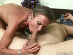Lusty mature lady property the brush ass drilled