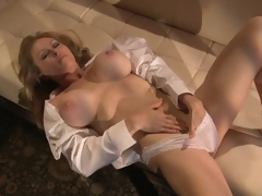 Sensual Blond MILF Dyanna Lauren Fingers Her Moist Pussy In Her Pants