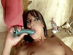 In this video scene Andy Brown and Jordan were taking a shower together, but in a short time things got heated up between the 2 and ended up getting in a hawt lesbian fuck. The video scene begins with these hot milf widening their juicy cracks and taking hard sex-toy showing in their h